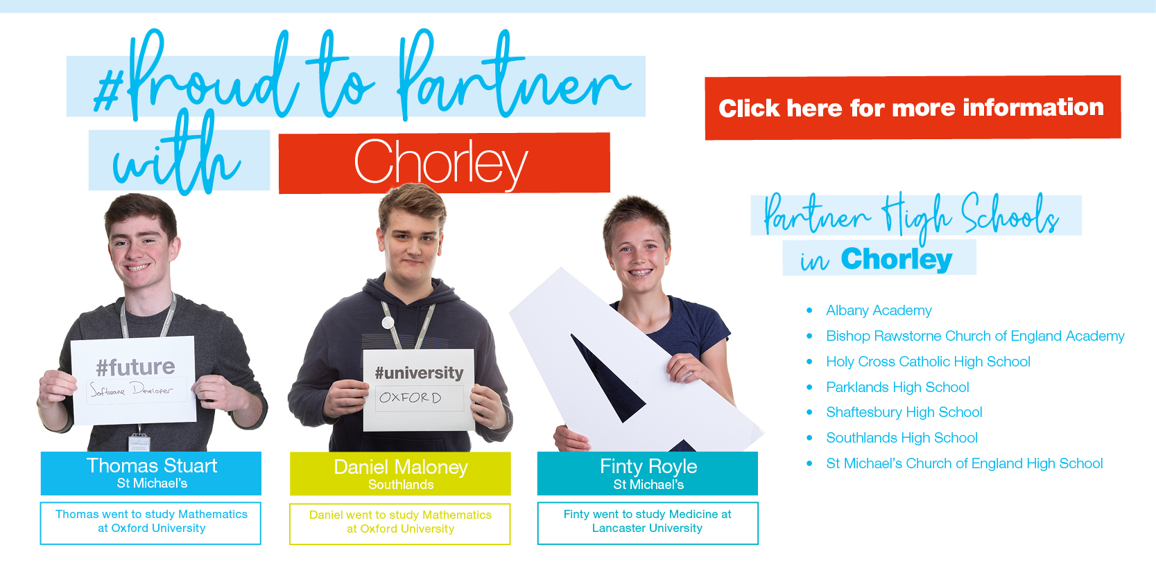 Proud to Partner with Chorley... Click HERE for more information Thumbnail