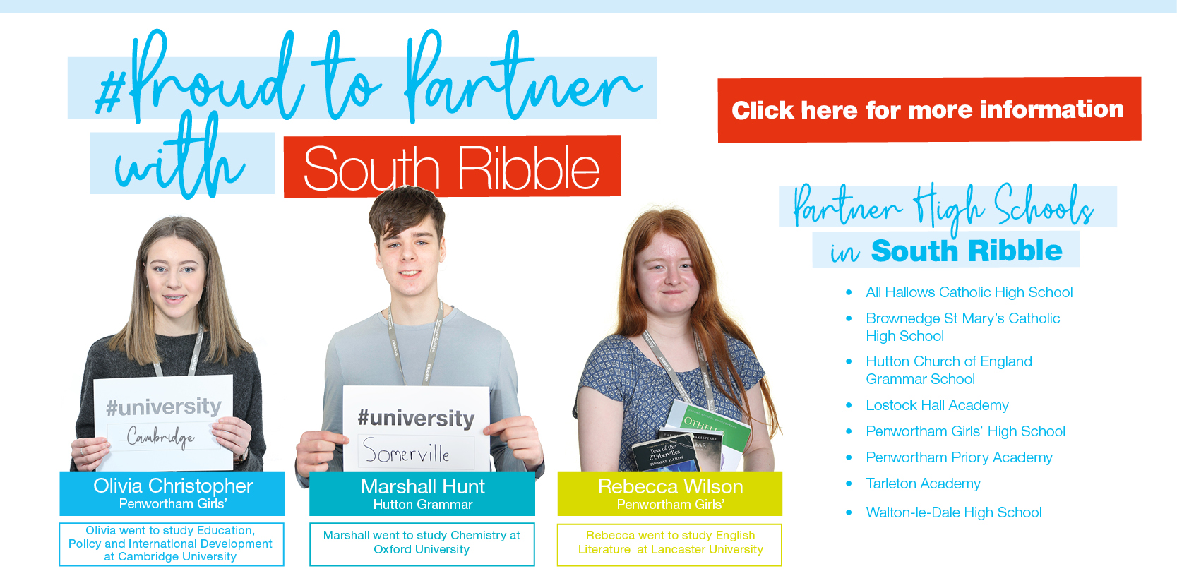 Proud to Partner with South Ribble... Click HERE for more information Thumbnail