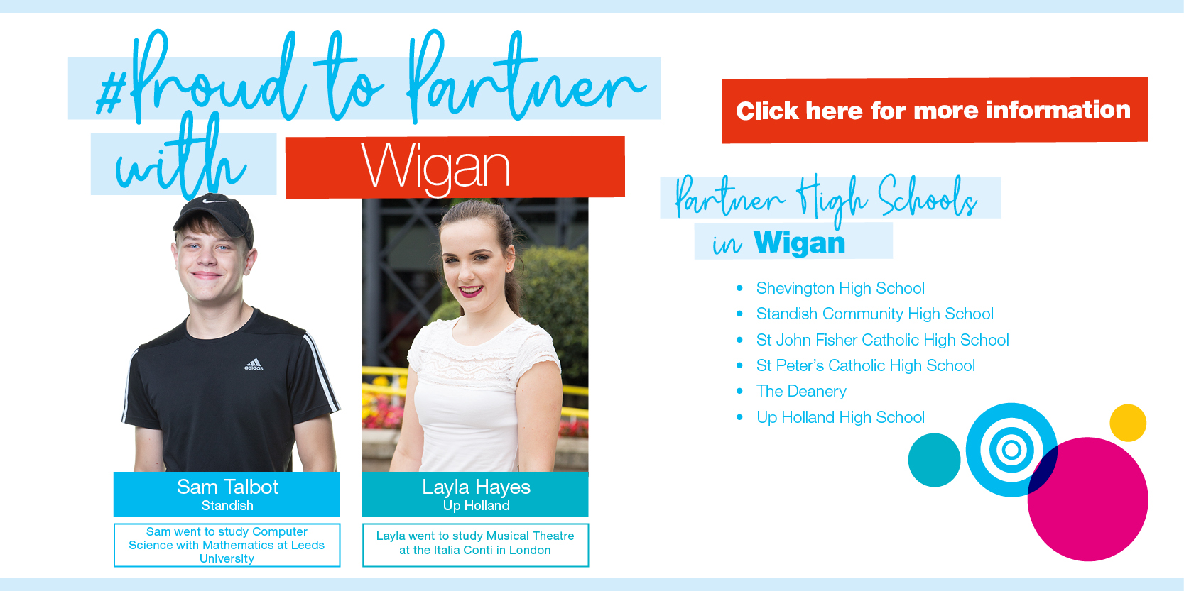 Proud to Partner with Wigan... Click HERE for more information Thumbnail